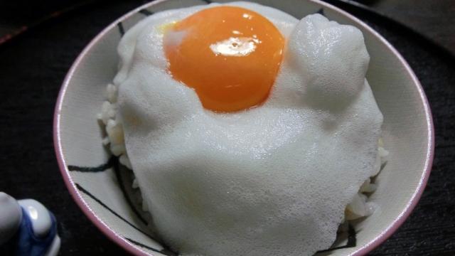メレンゲ卵かけご飯