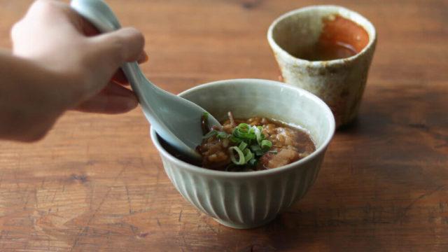 台湾豚角煮玄米雑炊